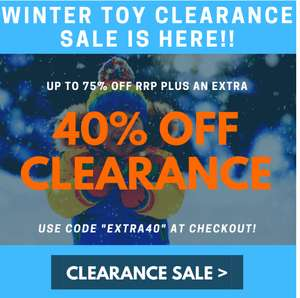Pound Toy - Extra 40% off clearance items starting from 1p - P&P is £3.49 or Free with £25 Spend