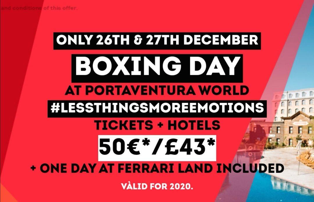 PortAventura World flash sale - hotel + ticket £43 pp per night - Ends 27/12
