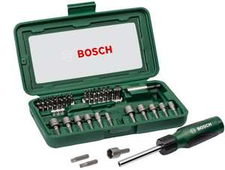 Bosch 2607019504 Screwdriver, Set of 46 Pieces (Assorted Color) - £14.97 (prime) / £19.46(non prime) @ Amazon