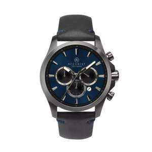Accurist - Black Chronograph Leather Strap Watch £45 @ Debenhams
