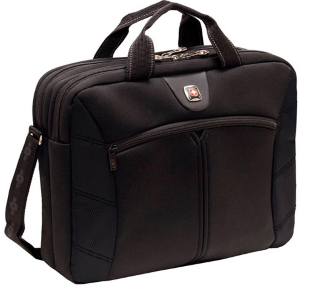 """Wenger Sherpa Black Slimline Carry Case for iPad/Tablet/Netbook -Black-upto 10.2"""" for £4.99 Delivered @ Scan"""