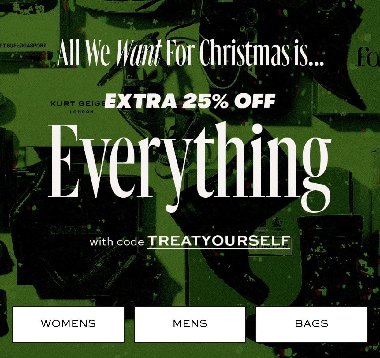 Extra 25% off EVERYTHING @ Shoeaholics.com - Including Sale! Vans & Skechers from £14.75 + 4% Top Cashback