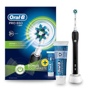 Oral-B Pro 650 black electric toothbrush and toothpaste 75ml £18 @ Lloyds Pharmacy (Free click & Collect)