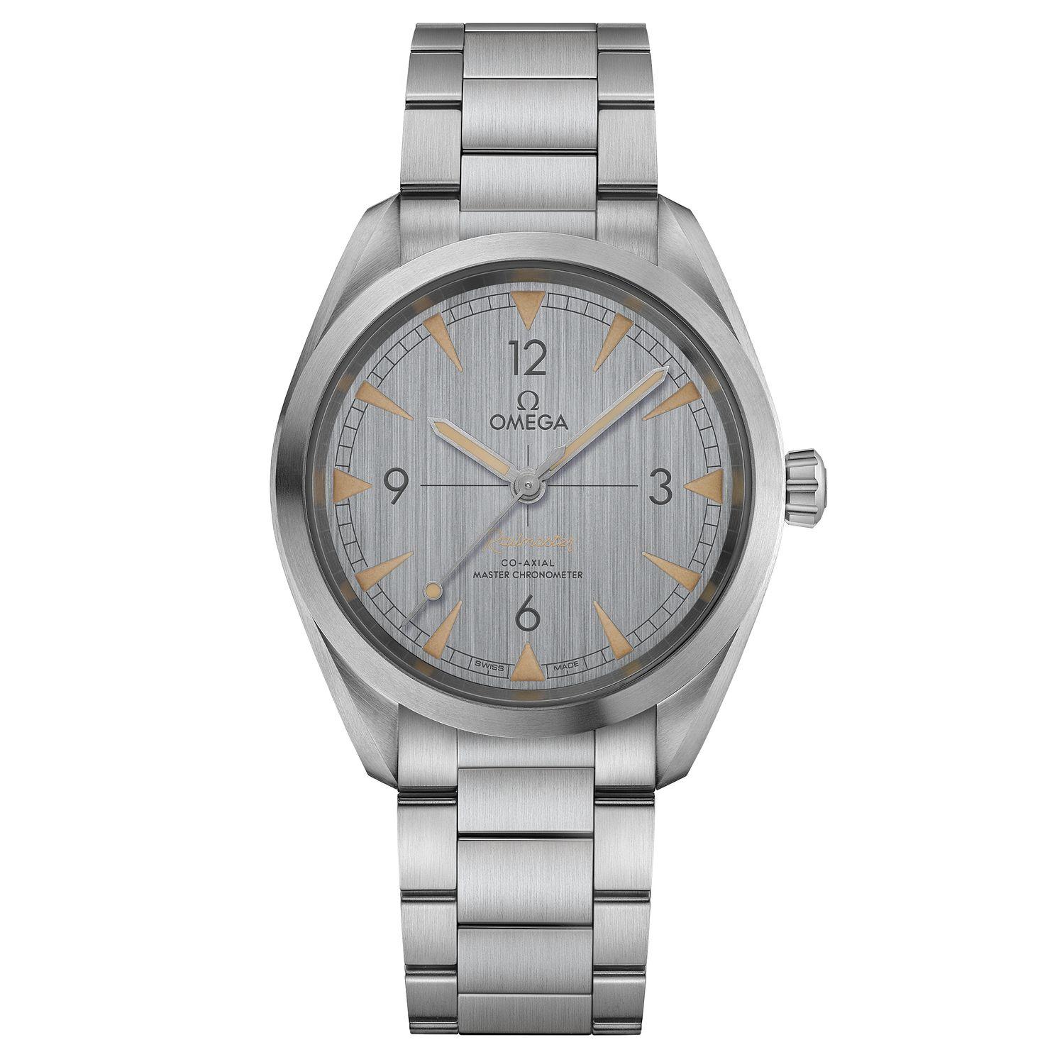 Omega Railmaster Men's Stainless Steel Bracelet Watch Silver Dial at Ernest Jones for £2780