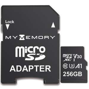 MyMemory 256GB V30 PRO Micro SD (SDXC) A1 UHS-1 U3 + Adapter - 100MB/s/70MB/s R/W(Lifetime Warranty) for £21.99 Delivered @ Mymemory