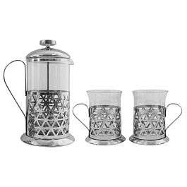 Chrome Cafetiere 600ml Set £9.99 @ Robert Dyas Free Nationwide Click & Collect