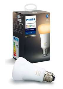 Philips Hue White Ambiance Single Smart Bulb LED [E27 or B22] with Bluetooth, at Base.com for £17.99