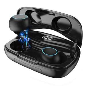 Wireless Earphones, HETP Wireless Headphones Bluetooth 5.0 Earbuds 50H Playtime 3D Stereo Sold by HETP Driect and Fulfilled by Amazon £20.89