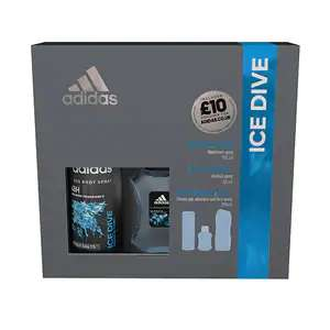 Adidas Ice Dive Body Spray Shower Gel & EDT Gift Set £2.99 + Free £10.00 Voucher To Spend At The Adidas Website @ Superdrug Only (Free C&C)