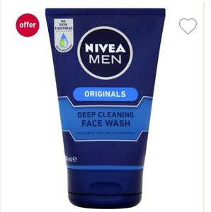 Nivea Men Deep Cleaning Face Wash Protect & Care 100ml @ Bodycare (Instore) for £1.49