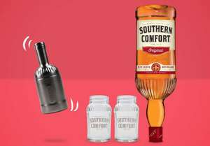 1.5L Southern Comfort Original Liqueur with Whiskey, 2 Mason Jars, and a Shaker, for £29.99 at Amazon (Treasure Truck)