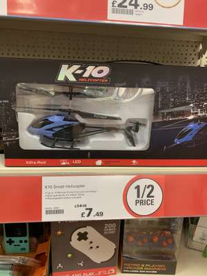 K10 remote Helicopter £7.49 @ Robert Dyas