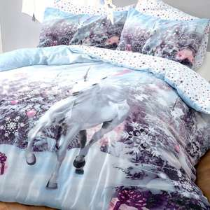Single Pieridae Christmas Unicorn Reversible Duvet Set £3.78 Delivered Using Code @ Groupon