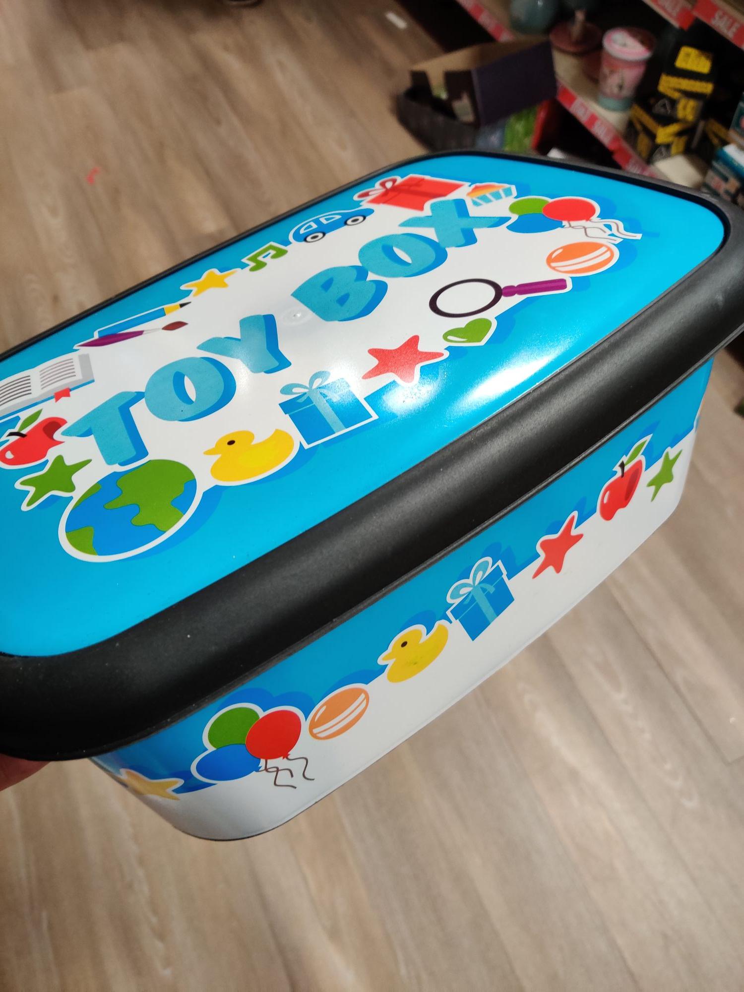 Toybox storage box 50p @ Poundland (Sevenoaks)