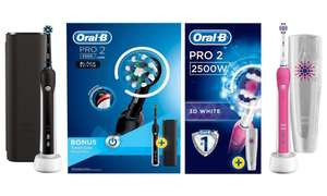 Oral-B Pro 2 2500 Limited Edition Brushes £24.46 delivered @ Groupon
