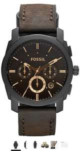 FOSSIL Machine Mid-Size Chronograph Brown Leather Stainless Steel Watch £69.99 @ Amazon