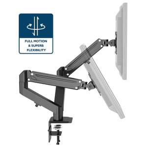 """1home Full Motion Height Adjustable Ergonomic Dual Arms Mount Stand for 13""""-27"""" Monitors £32 Sold by bracketsales123 and Fulfilled by Amazon"""