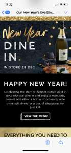 Marks and Spencer new year meal deal 28th dec