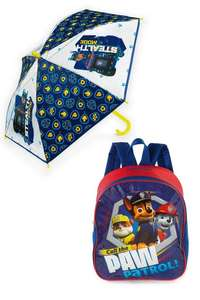 Personalised Paw Patrol Backpack and Umbrella Set £5.59 @ Studio (Free P&P With Code)