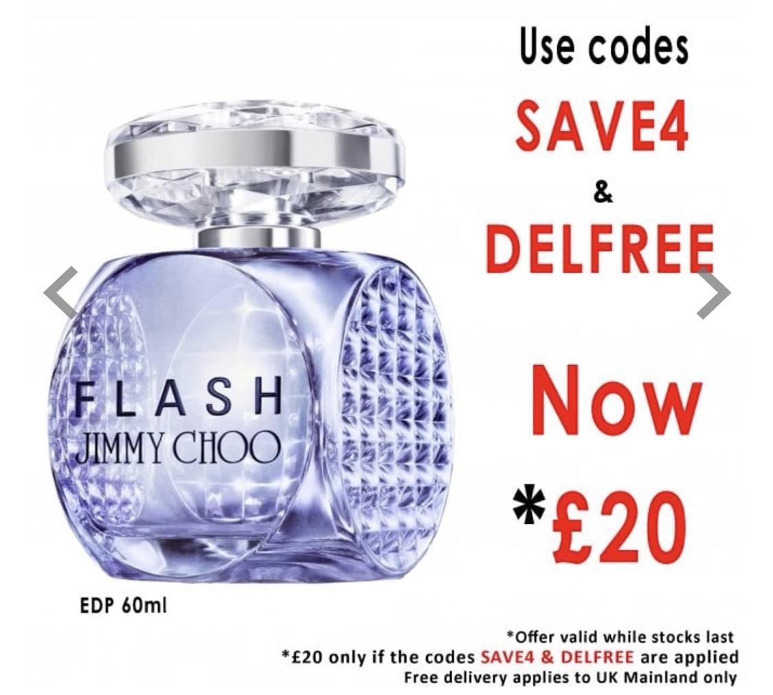 Jimmy Choo Flash Eau De Parfum 60ml Spray for £20 delivered @ BeautyBase