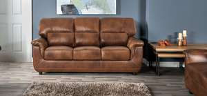 SCS Carter 3 seater Leather sofa reduced £564 delivered @ ScS