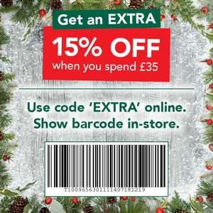 Holland & Barrett 15% off £35, 20% off £55 - until Sunday. Free C&C. 15% TCB. Instore and Online.