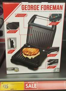 George Foreman Grill £15 at Morrisons