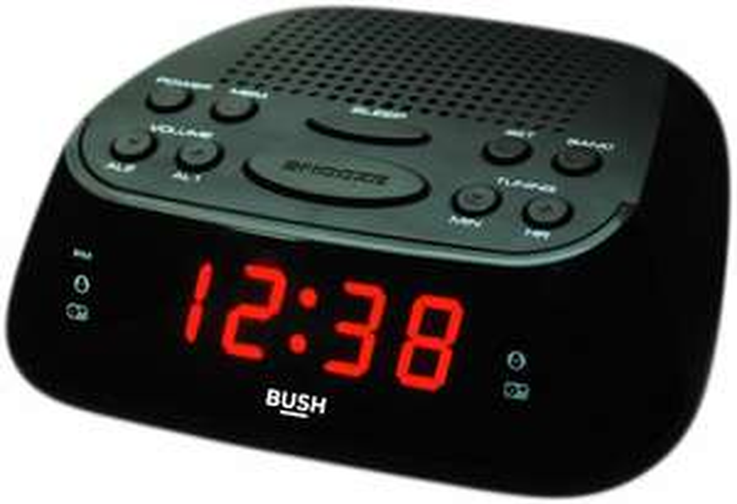 Bush Clock Radio - Black / Silver - £6.99 + Free Click and Collect @ Argos