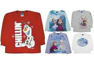 Disney Frozen Long Sleeve Kids T Shirt 100% Cotton - Red age 7-8, 9-10, White age 9-10 £1.99 delivered @ shoedirectory ebay