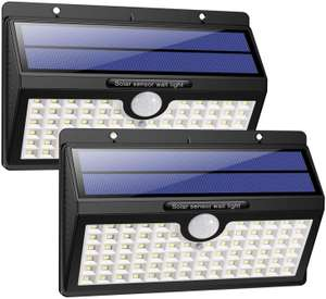 HETP Solar Lights Outdoor £13.65 w/voucher - Sold by HETP Driect and Fulfilled by Amazon. (+£4.49 Non-prime)