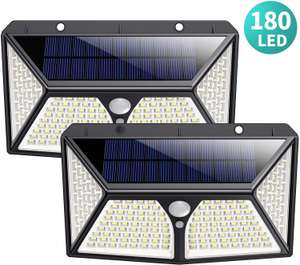 Solar Lights Outdoor, HETPSuper Bright 180 LEDl £15.10 w/voucher - Sold by HETP Driect and Fulfilled by Amazon.