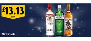 Selected 70cl spirits £13.13 @ Morrisons