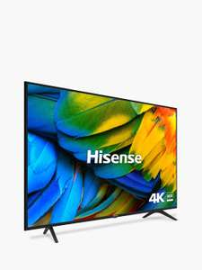 "Hisense H65B7100UK (2019) LED HDR 4K Ultra HD Smart TV, 65"" with Freeview Play, Black/Silver 5 year warranty £498 @ John Lewis & Partners"