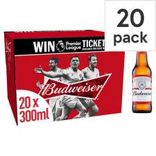 Budweiser 20 Pack 300Ml £10 @ Tesco