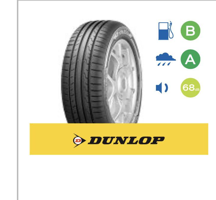 Dunlop Sport Blu Response 205/55 16V (91) £65.50 @ Kwik Fit