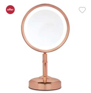 No7 Rose Gold/Silver Illuminated Make Up Mirror with Dimmer Feature £17.99 with Free C&C