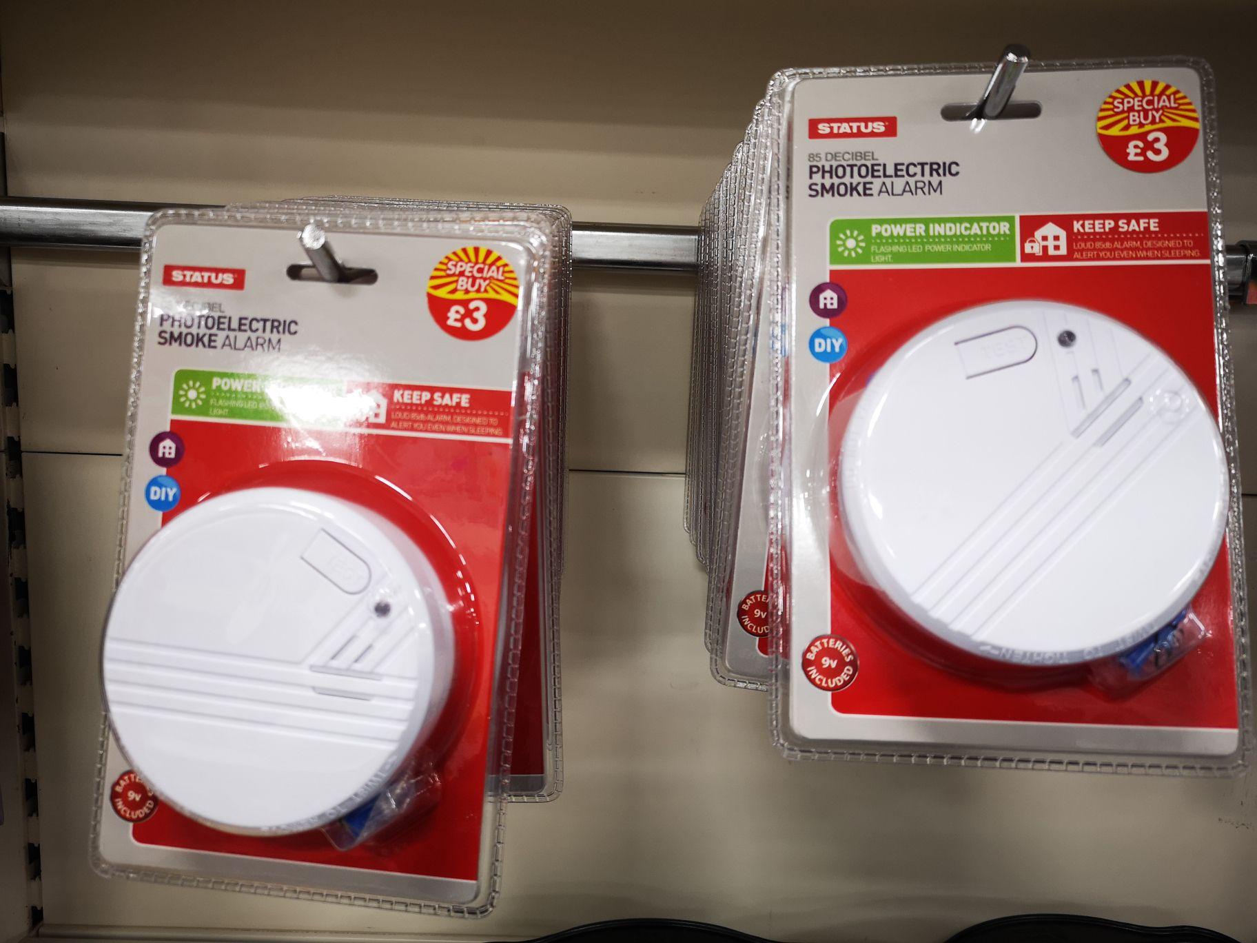 Status photoelectric smoke alarm £3 @ B&M
