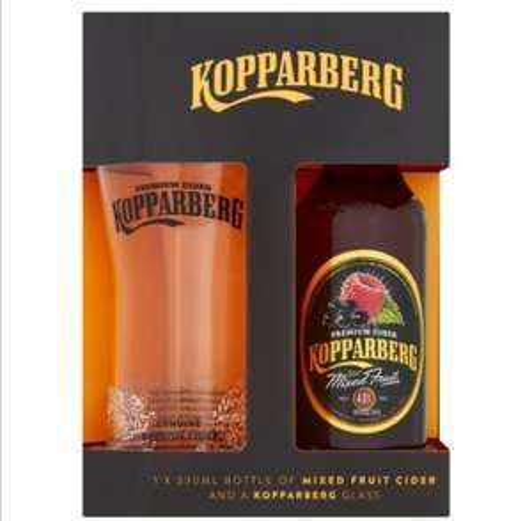 Kopparberg mixed fruit cider (330ml) and glass gift set half price £2 @ Tesco