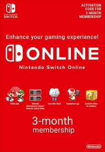 Nintendo Switch Online 3 Month Membership £2.85 @Shopto