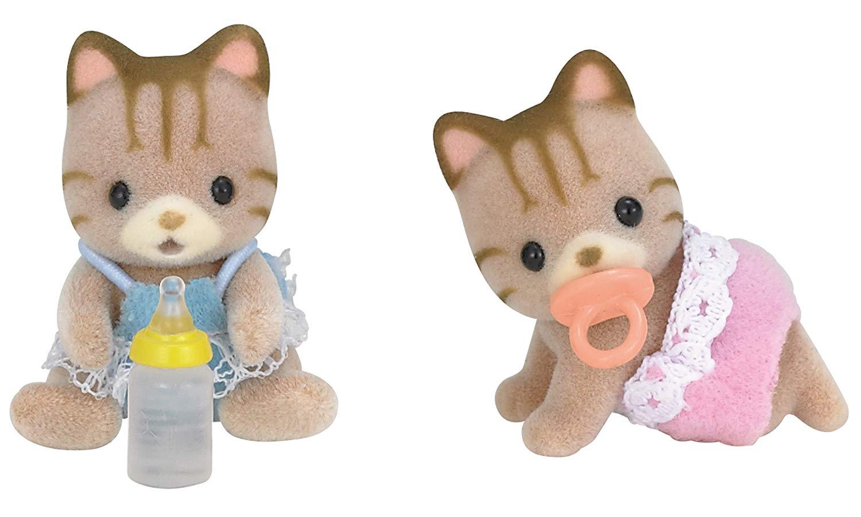 Sylvanian Families - Striped Cat Twins £5 + £4.49 NP @ Amazon