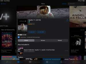 Apollo 11 4K HDR itunes for £4.99
