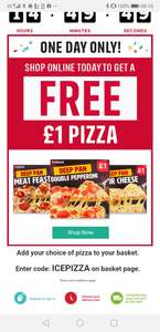 Free £1 pizza at Iceland on your next shop