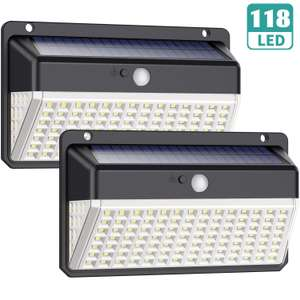 2 x 118 LED Solar lights £12.56 with £5 voucher Sold by XDtechs and Fulfilled by Amazon