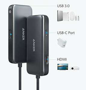 Anker 3 in 1 USB C hub, 60W Power Delivery, 4K HDMI £11.99 (+£4.49 Non Prime) Sold by AnkerDirect and Fulfilled by Amazon