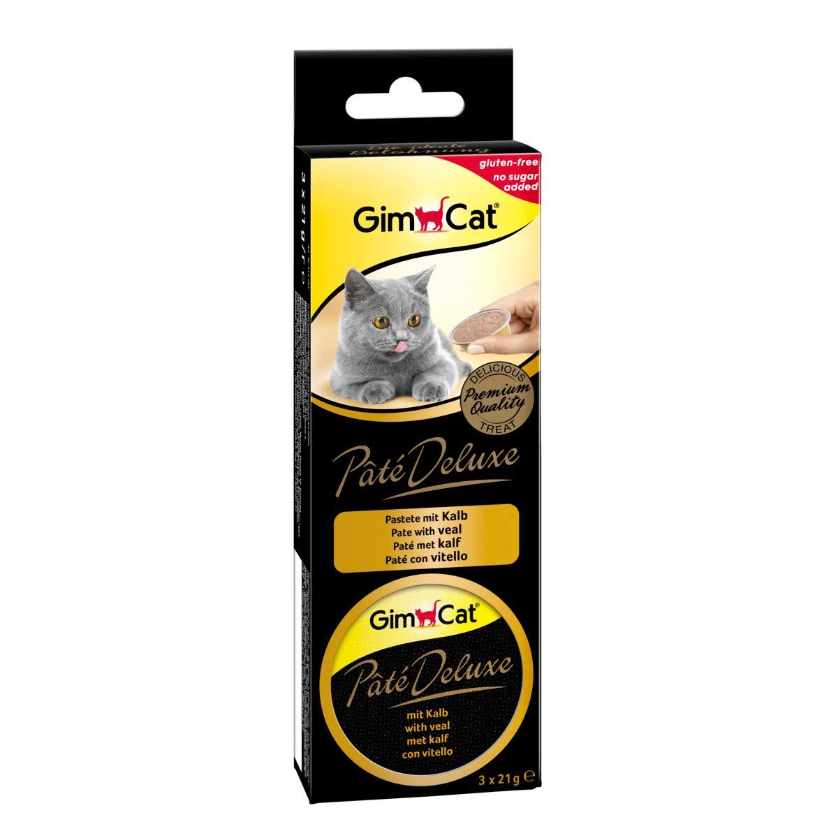GimCat Pâté Deluxe, Delicious pâté cat food 8 packs (24 servings) (Minimum order 4) £8.04 (+£4.49 Non Prime) @ Amazon