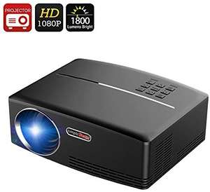 VIVIBRIGHT GP80 LED 1800 Lumens full HD Portable Projector , EU plug, £62.99 delivered from Gearbest