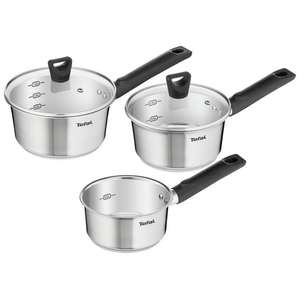 Tefal Simpleo 3 Piece Stainless Steel Non-Stick Pan Set £40 at Argos
