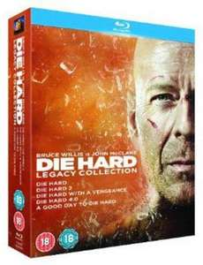 Die Hard - Legacy Collection (Films 1-5) [Blu-ray] [1988] £10.80 at Amazon