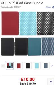 """GOJI 9.7"""" iPad Case Bundle (option for free delivery) - £10.00 at Currys PC World"""