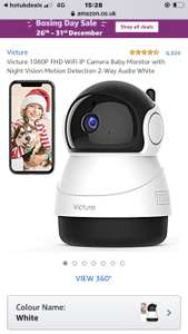 Victure 1080P FHD WiFi IP Camera Baby Monitor with Night Vision Motion Detection 2-Way Audio White £19.99 Sold by MING-EU and FBA